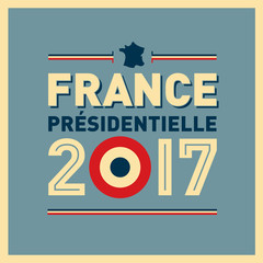 2017 French presidential election poster. In french