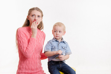 Young mother is shocked by three sons