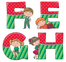 Alphabet kids EFGH