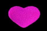 Pink Fuzzy Heart Pillow