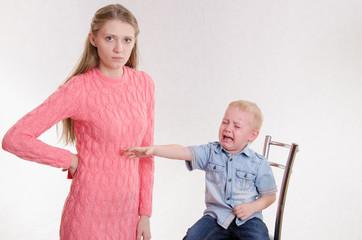 Mom punished three year old boy