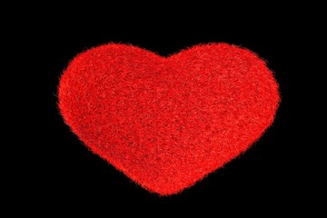 Red Fuzz. Heart