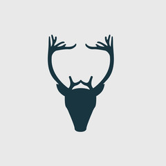 deer head hipster vector icon