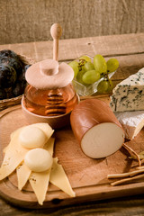 Various types of cheese compositionVarious types of cheese compo