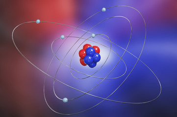 Colorful atom model