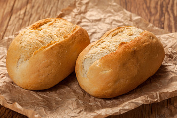Freshly baked crusty rolls.