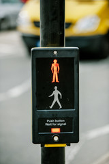 Push button and wait for signal traffic sign UK