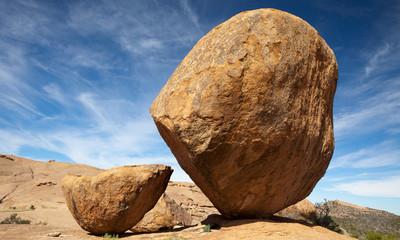 boulders, Namibia desert