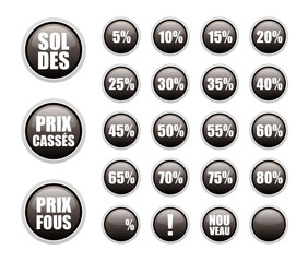 soldes stickers noirs