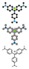 Crystal (gentian) violet molecule. Dye used in Gram staining of