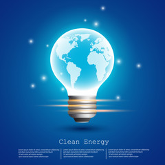 clean energy (earth bulb)