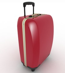 Suitcase for travel. 3d illustration over white