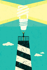 Energy conservation lighthouse