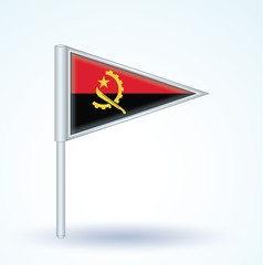Flag set of Angola, vector illustration