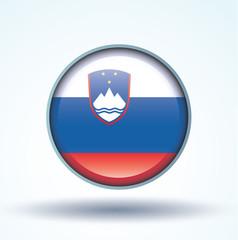 Flag set of Slovenia, vector illustration
