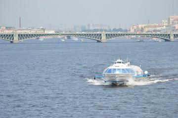 Meteor, hydrofoil boat in St. Petersburg.