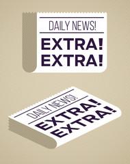 Modern Flat Newspaper Design