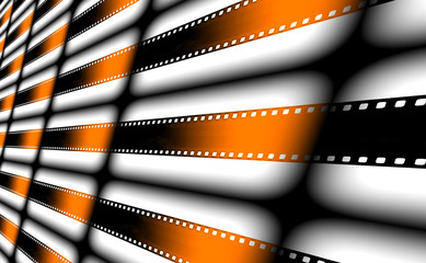 Film strips as background.