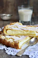 Crostata with ricotta.