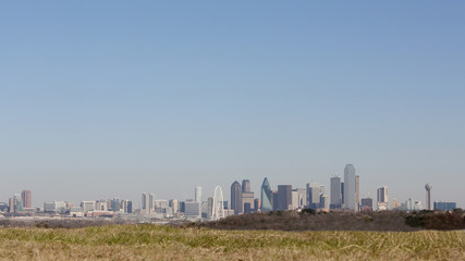 Panoramic view downtown Dallas