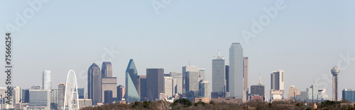Foto op Canvas Texas Downtown Dallas, Reunion Tower, Margaret Hunt Bridge