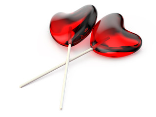 Heart lollipop two