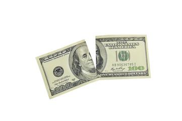 разорванный доллар