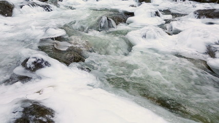 Icy Mountain Stream dolly shot