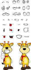 giraffe funny cartoon expressions set pack01