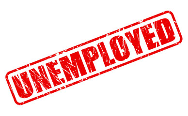 UNEMPLOYED red stamp text