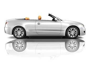 Silver Convertible Contemporary Shiny Car Concept