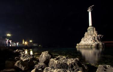 Monument to sunken ships, the symbol of Sevastopol build in 1905