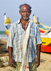 Indian Fisherman Kerala India Lifestyle Concept