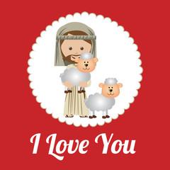 Love design over red background vector illustration
