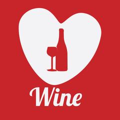Wine design over red background vector illustration