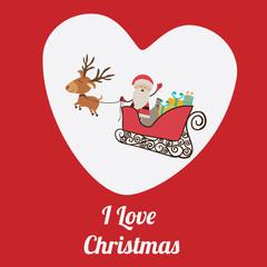 Christmas  design over red background vector illustration