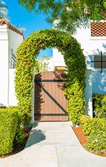 Floral House Gate
