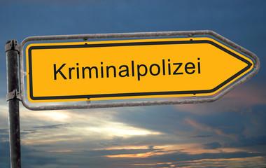 Strassenschild 19 - Kriminalpolizei