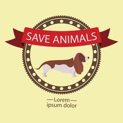 Animals design over beige background vector illustration