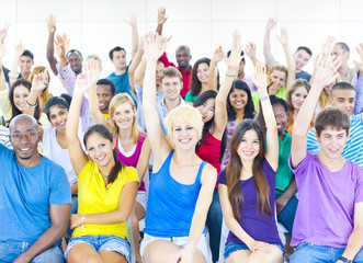 Large Group Student Conference Room Togetherness Concept