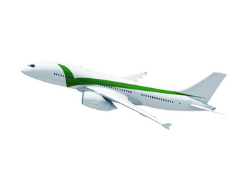 Airplane Mid Flying Contemporary Transportation Concept