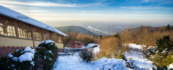 Heidelberg Königstuhl im Winter