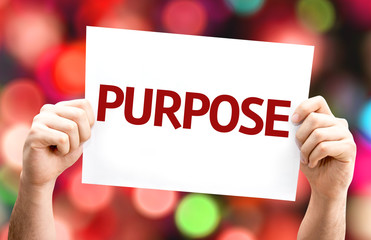 Purpose card with colorful background