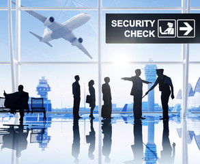 Group People Airport Security Check Privacy Concept