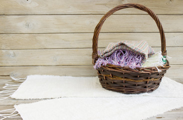 Basket and Scarf