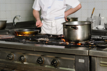 real dirty restaurant kitchen