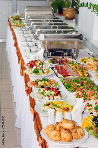 Leinwanddruck Bild catering wedding