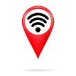 Wi fi icon in red pointer