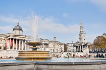 Trafalgar Square at London, England