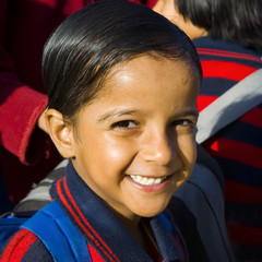 Indigenous Indian School Girl Smiling Concept